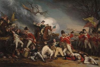 The Death of General Mercer at the Battle of Princeton January 3, 1777 by John Trumball
