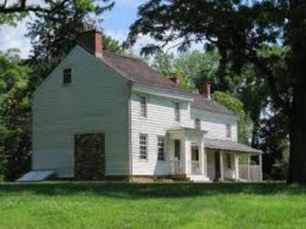 The Thomas Clarke House at   The Princeton Battlefield State Park
